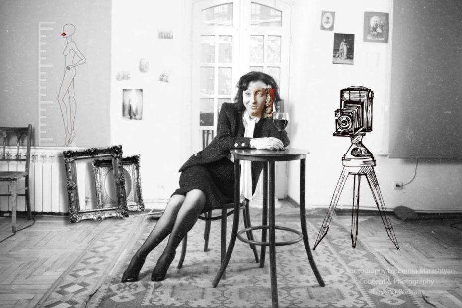 Женщина с фотокамерой